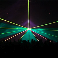 Beams and planes of laser light
